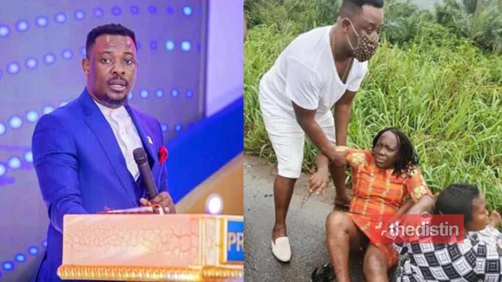 "PHOTOS: ""Ignore the fake news"" – Prophet Nigel Gaisie Speaks After His Accident At Peki, Oti Region"